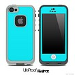 Solid Aqua Blue Skin for the iPhone 5 or 4/4s LifeProof Case