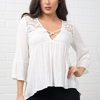 Weslyn Blouse - White