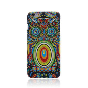 So Cool Night King Owl Handmade Luminous  Light Up iPhone Cases for 5S 6 6S Plus