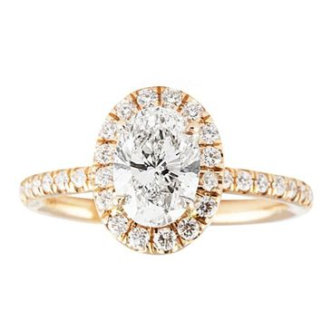 LEPOZZI 1.00 CT OVAL DIAMOND ROSE GOLD ENGAGEMENT RING