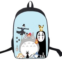 Novelty Miyazaki Hayao My Neighbor Totoro Backpack Japanese Anime School Shoulder Bag For Teenagers Satchel Rucksack Casual Bags