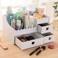 Korean Fashion Desk Organizer For Cosmetics Makeup Storage Box With Drawers