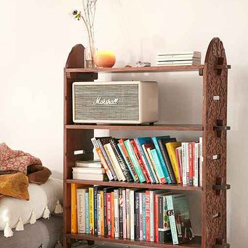 Plum & Bow Aria Carved Bookshelf- Brown One