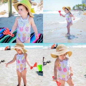 Purdy in Pineapple! Baby/Toddler Girls 1 pc swimsuit