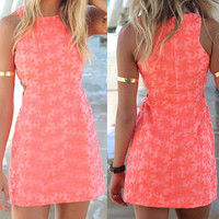 Floral Pattern Sleeveless Mini Dress