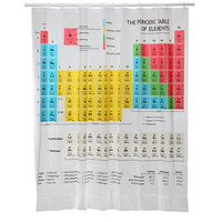 180*180CM Periodic Table of Elements Fashion Home Living Waterproof Bathroom Decor Shower Curtain  E2shopping
