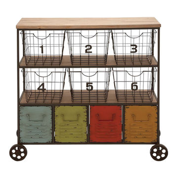 The Colorful Metal Storage Cart