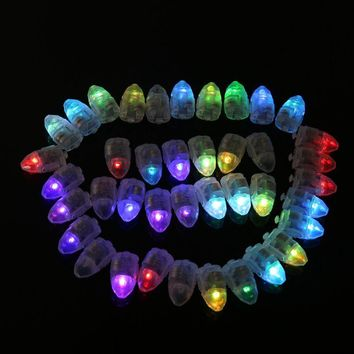 50pcs/lot Colorful LED Lamps Balloon Lights for Paper Lantern Balloon Christmas Party Decoration Light Halloween Decorations