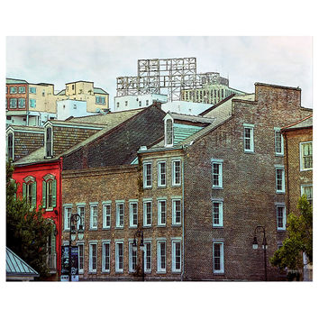 New Orleans French Quarter Hotel Monteleone 8x10 16x20 Giclee Print - View from the River - Korpita