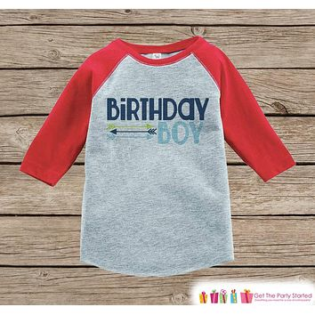 Boys Birthday Outfit - Birthday Boy Hipster Arrows Onepiece or Tshirt - Boy Birthday Shirt - Red Raglan Birthday Shirt - Boys Raglan Top