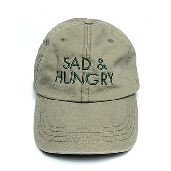 Sad and Hungry Cap in Wasabi Green