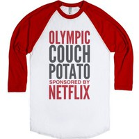 Olympic Couch Potato Sponsored By Netflix T-shirt