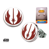 Star Wars Stainless Steel Jedi Order Symbol Enamel Stud Earrings