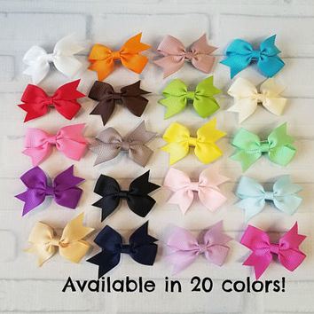 Dog hair bow 2 inch - pet bow - pet bow on gator clip - dog accessories - dog photo prop - dog owner gift