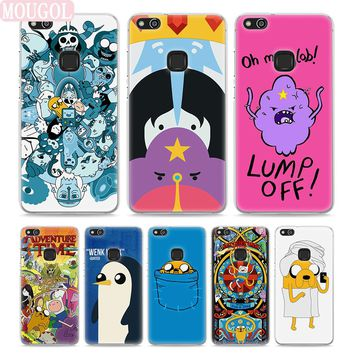 MOUGOL Adventure Time Finn Jake Style Thin transparent phone Cover Case for Huawei P10 P10lite P8 P9 lite Mate10 9