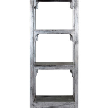 Madera Three Shelf Bookcase - Grey