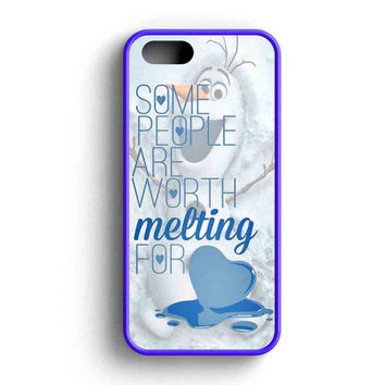 Some People Are Worth Melting For Olaf Funny Quote iPhone 5 Case iPhone 5s Case iPhone 5c Case