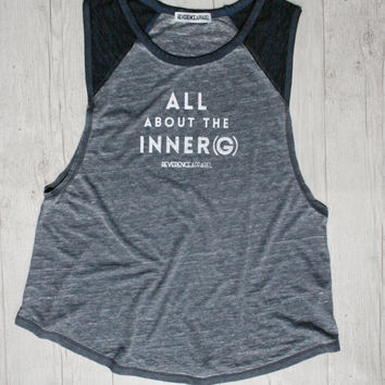 ALL ABOUT THE INNER (G) RAGLAN MUSCLE TEE