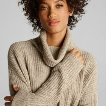 Eileen Fisher Merino & Yak Wool Turtleneck Sweater (Regular & Petite) | Nordstrom