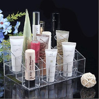 Acrylic Transparent Cosmetic Makeup Storage Display Stand
