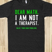 DEAR MATH TEE T SHIRT