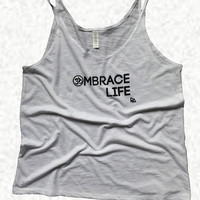 OMbrace Life Graphic Yoga Tank Top