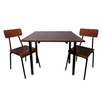 Threshold 3 Piece Dining Table Set - Dark Chestnut
