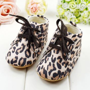 Fashion Cute #Baby Girl Infant Toddler Leopard Crib Shoes Walking