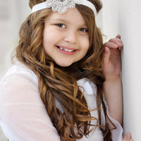Rhinestone Headband, Flower Girl Headband, Bridal Hairpiece, Crystal Headband, Bridal Headband, Bridesmaid Headband, Bling Headband