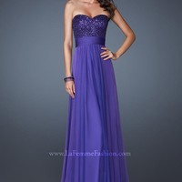 La Femme 18584 Purple Mist Dress