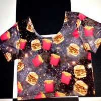 SWEET LORD O'MIGHTY! FASTFOOD WHORE CROP TEE