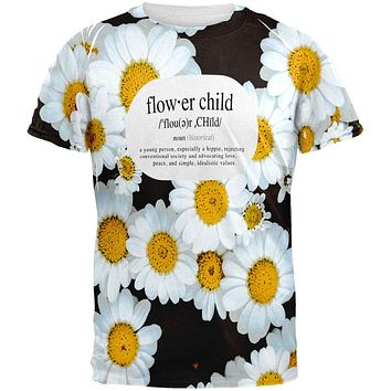 Flower Child Definition Daisies All Over Mens T Shirt