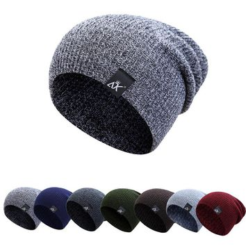 Men's Slouchy Beanie Hat in Colors