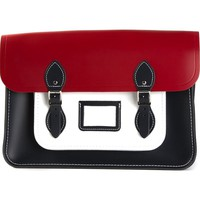 The Cambridge Satchel Company colour block raw cut satchel