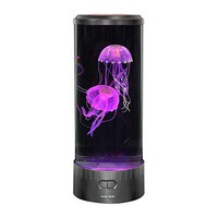 Lightahead LED Fantasy Jellyfish Lamp Round with 5 color changing light effects Jelly Fish Tank Aquarium Mood Lamp for home decoration magic lamp for gift