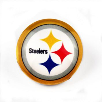 20pcs/lot Pittsburgh Steelers USA Teams Snap Buttons DIY 18mm Glass Football Sports Ginger Snap Jewelry Bracelets&Bangles