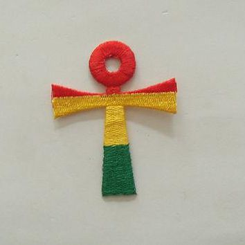 New Rasta Reggae Cross patches Bob Marley