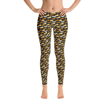 Africa Leggings for Women - Stylish Durable Novelty Leggings - Cut, Sewn, and Printed in California - Model 29042
