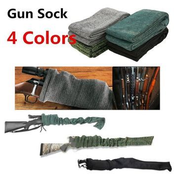 """Hunting Rifle Knit Air Gun Sock 54"""" Polyester Silicone Treated Rifle Protector Shotgun Cover Case Storage Sleeve Fabric Holsters"""