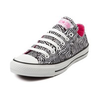 Converse All Star Lo Zebra Athletic Shoe, Black White | Journeys Shoes