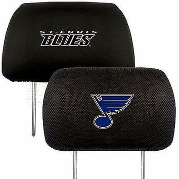 St. Louis Blues 2-Pack Auto Car Truck Embroidered Headrest Covers