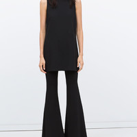 Wide flared studio trousers
