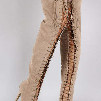 Best Peep Toe Thigh High Boots Products on Wanelo