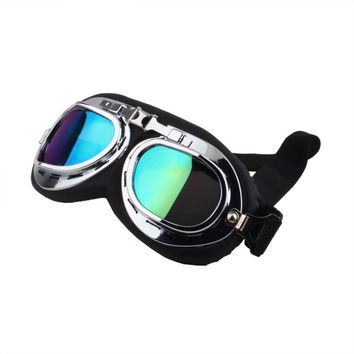 New Arrival motorcycle goggle GOGGLES racing bicycle bike Scooter Steampunk Cruiser Helmet Eyewear glasses