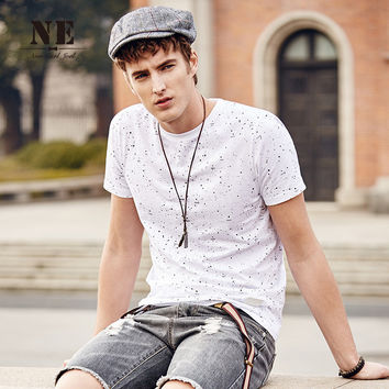 Summer Men's Fashion Stylish Casual Short Sleeve Slim Pattern T-shirts [7951289475]