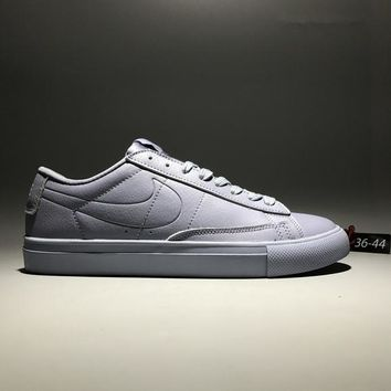 """Nike Blazer"" Unisex Casual Fashion All-match Leather Low Help Plate Shoes Couple Sneakers"