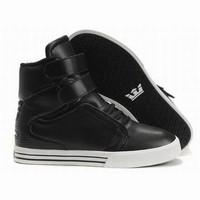 black supra tk society high tops leather men shoes,discount supra tk black leather