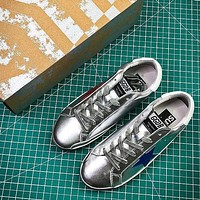 GGDB Golden Goose Uomo Donna Red Blue Star Fashion Silver Shoes