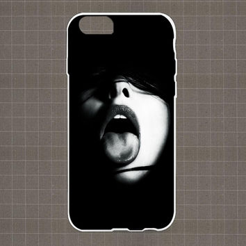 Female Model Black Background iPhone 4/4S, 5/5S, 5C Series Hard Plastic Case
