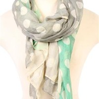 multi color scarf with polka dot print - debshops.com